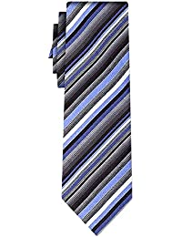 striped silk tie stripe grey blue white