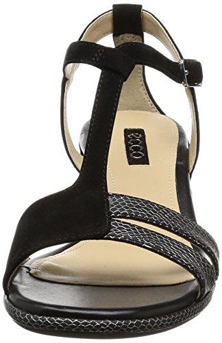 Ecco Damen Rivas 45 Ii Offene Sandalen mit Keilabsatz Schwarz (51052BLACK/BLACK)