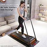 DESKFIT DFT200 Laufband für / unter Schreibtisch - fit und gesund im Büro & zu Hause. Bewegen und ergonomisches Arbeiten, keine Rückenschmerzen - mit praktischer Tablet-Halterung, Fernbedienung und App (Dunkelbraun) - 7