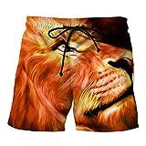 OHQ Pantalon De Plage à Imprimé Requin Pour Homme Noir Les Hommes Occasionnels 3D Travail Pantalons Courts Shorts Ete Taille Haute Grande Sport Coton Pas Cher Chino Bain (Orange, XXL)