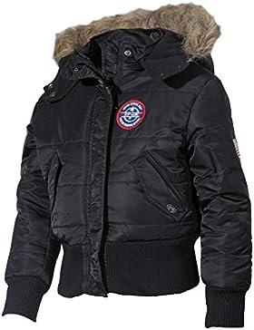 MFH Kidswear N2B - Chaqueta polar para niños (capucha con pelo) negro negro Talla:122 / 128
