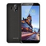 HOMTOM S16 Smartphones Débloqué Android 7.0, Écran 5,5 Pouces(18:9), 13MP+2MP Double Caméra Arrière, 2 Go RAM+16 Go ROM, Double SIM, MTK6580 Quad Core, Batterie 3000mAh, 3G Empreinte Digitale Téléphones Portables pas cher (Noir)