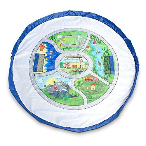 Preisvergleich Produktbild EZY Tidy Bag - Ganz NEU: Spielmatte mit Stadtplan und Spielzeugbeutel - Riesige 150 cm