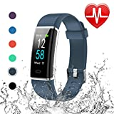Letscom Fitness Tracker, Heart Rate Monitor Watch with Color Screen, IP68 Step