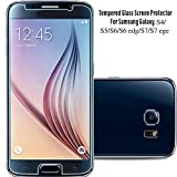 Huhuswwbin Protector de Pantalla de Cristal Templado para Samsung Galaxy S3/4/5/6 Note3 4 5