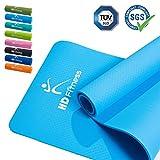 HD Fitness® Tappetino da ginnastica / EXTRA spesso e morbido, ideale per yoga pilates, Allenamento di ginnastica / dimensioni: 180 x 61 spessore 0,8mm / azzurro