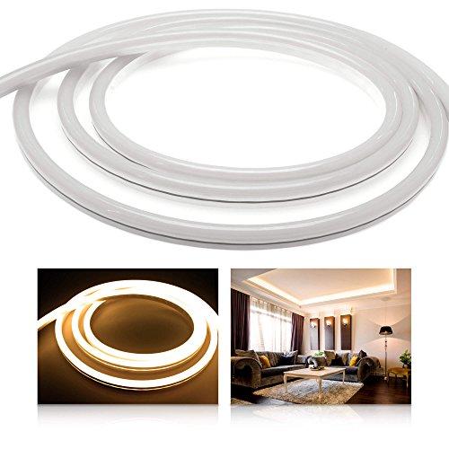 LEDU NeonFlex Pro230 warmweiß (Länge: 1m, 230V LED-Streifen, Neon-Flex LED-Stripe ohne Lichtpunkte, durchgängig Leuchtend, 9W/m, EEK: A, Anschluss: Eurostecker)