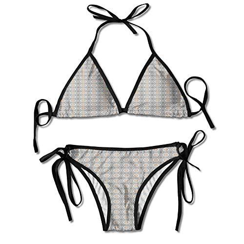 Thong 2PCS Bikini Sets,Eastern Ottoman Classic Antique Sexy Bikini 2 Pieces -