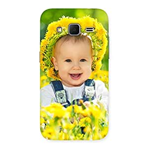 Gorgeous Laughing Baby Girl Back Case Cover for Galaxy Core Prime