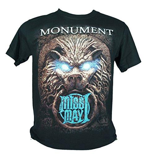 Miss May I-Maglietta da uomo nero Monument Medium Size M