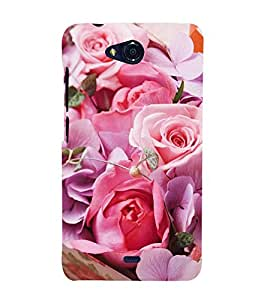 Vizagbeats Pink Roses Back Case Cover for Micromax Canvas Q355