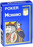 Modiano Texas Poker 4 Jumbo Index azzurro - Carte da gioco Texas Poker