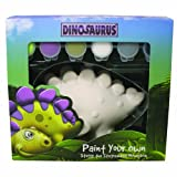 Paint and customize your own dinosaurs moneybox;Package contains one ceramic figure six ceramic paint pots;Made in China