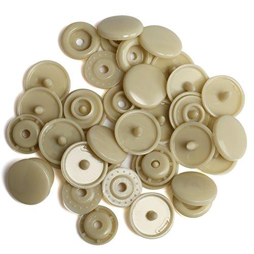 LIHAO T5 Druckknöpfe Nähfrei Snaps 50 Set Buttons für DIY Basteln (Farbe 19) -