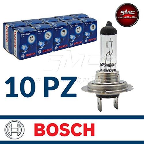 1 987 302 071 LAMPADINE FARO ORIGINALE BOSCH PURE LIGHT H7 12V 55W (10)