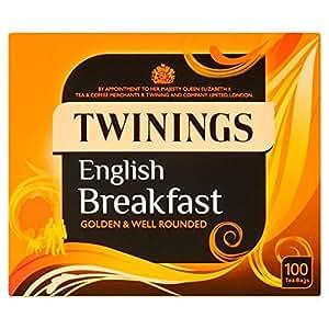 Twinings English Breakfast Sachets de thé 100 par paquet