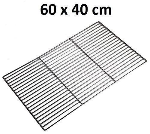 Grillrost eckig div. Größen Grillgitter verchromt (60 x 40 cm)