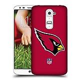 Head Case Designs Offizielle NFL Einfarbig Arizona Cardinals Logo Ruckseite Hülle für LG G2/D800/D802/D801