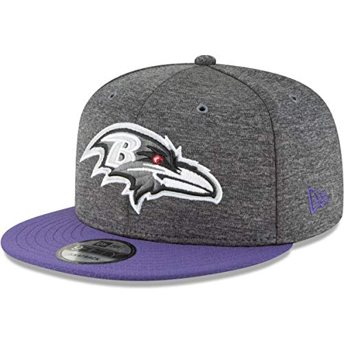 New Era Baltimore Ravens 9fifty Snapback NFL 2018 Sideline Home Graphite Graphite - M - L
