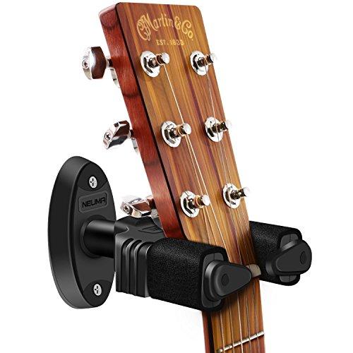 NEUMA Gitarrenständer, Wandhalterung für Gitarren/Bass / Banjo/Mandoline mit Automatioschem Verschluss