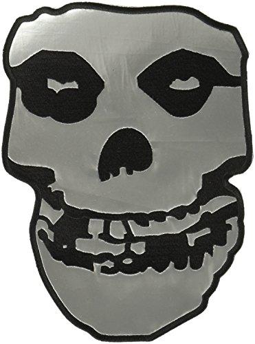 Adams Vintage Rock (MISFITS, Silver Pleather Skull, Original Products Classic Rock Artwork, Iron-On / Sew-On, 9