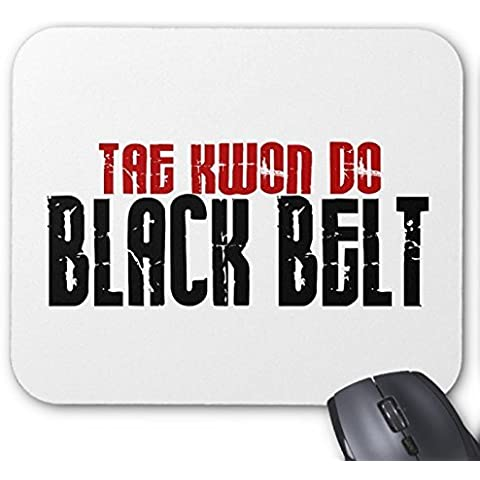 Rectangle Mousepad Tai Kwan Custom Do Mouse Pad da Karate per cintura, colore: nero