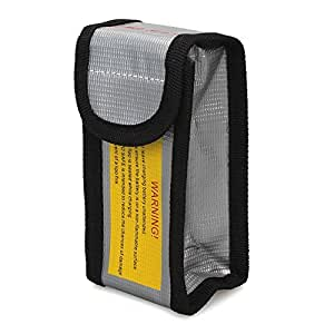 Ilov LiPo Battery Fireproof Safety Guard Protection Bag Charger Sack with a Butterfly Bookmark (125*64*50)