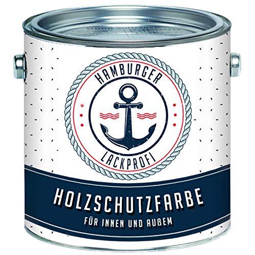 Holzschutzfarbe Braun Dunkelbraun Wetterschutzfarbe Aussen // Hamburger Lack-Profi (2,5 L)