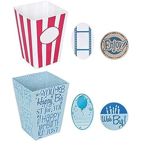 Fiskars 0216 - Set de 2 placas complementarias, grandes, diseño caja de popcorn