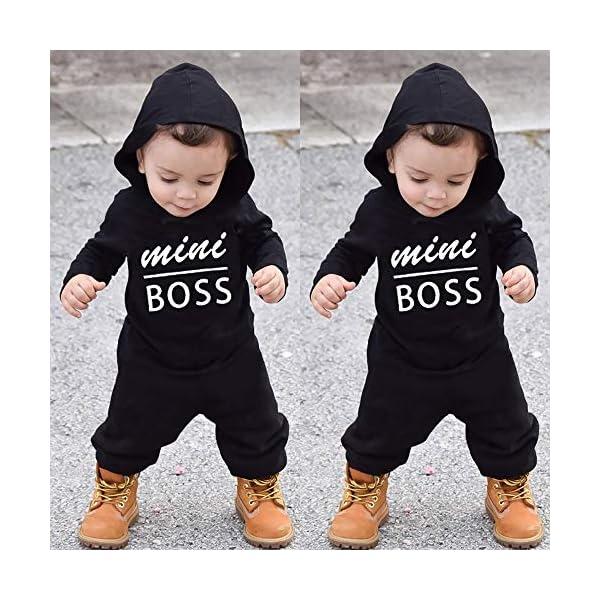 Trisee Ropa de Unisexo bebé Niñas Niños Manga Larga Otoño Invierno Patrón de Letras Camisetas Recien Nacido Trajes Monos… 2