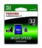 Toshiba High Speed Standard Micro SDHC 32GB Class 4 Speicherkarte schwarz