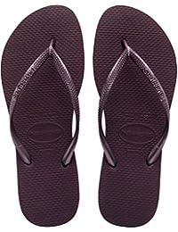 ae1fdf1fc49ac Amazon.fr   Violet - Tongs   Chaussures femme   Chaussures et Sacs