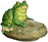 Design Toscano Thurston, der Frosch, Kröte aus Stein, sitzend, Gartenfigur