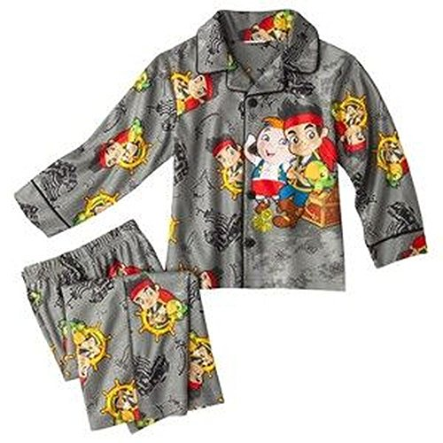 Disney Jake und die Neverland Piraten Gr??e 3 t grau Flanell Pyjama Set