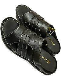 Afzelia Black Men's Genuine Leather Sandals