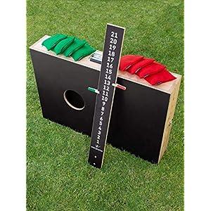 Cornhole Koffer Set, bestehend aus 2 verbindbaren Brettern / Boards, 8 Säckchen / Bean Bags und einem Zählbrett – Top…