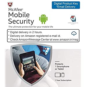 McAfee Mobile Security – 1 Device, 1 Year – Product Key (Email Delivery in 2 hours- No CD)