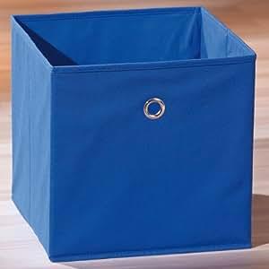 sally aufbewahrungsbox faltbox stoff blau 32x32cm k che haushalt. Black Bedroom Furniture Sets. Home Design Ideas