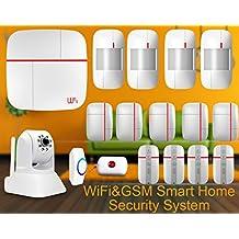 eyes4u WiFi inalámbrica GSM SMS Android IOS App Principal Bullnet vídeo Sistema de alerta de seguridad Detector de metales con cámara IP Medical mergency botón para la Página de inicio