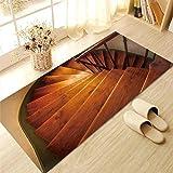 Elobaby Wohnzimmer Küche Rutschfeste Verschleißfesten Boden aufkleber Entfernt Nicht-Stick Kleber Kreative Dekorative Teppich Tapete , D , 60*120cm