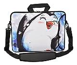 MySleeveDesign Laptoptasche Notebooktasche Umhängetasche Größe 15,6 Zoll und 17,3 Zoll - mit VERSCH. DESIGNS - Pinguin [15]