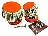 Maharaja indien Designer Tabla avec tambour, 4½ kg en cuivre Bayan, meilleurs Dayan avec sac rembourré, livre, marteau, coussins et housse