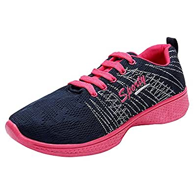 Earton Women's Comfortable & Trendy Look Synthetic Blue Running Shoes