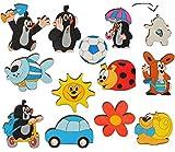 alles-meine.de GmbH Möbelknauf / Möbelgriff / Möbelknopf für Kindermöbel - der Kleine Maulwurf - Holz Kinder Kinderzimmer Schirm Möbel