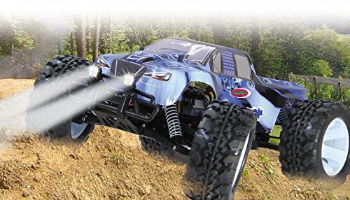Tiger Ice Monstertruck 1:10 4WD NiMh 2,4G LED - Allrad, Elektroantrieb, Akku, 35Kmh, Aluchassis, spritzwasserfest, Öldruckstoßdämpfer, Kugellager, Fahrwerk einstellbar, fahrfertig - 2