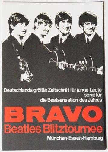The Beatles 'Bravo Beatles Blitztournee' 24. - 26.06.1966, München, Essen und Hamburg. Sammler / Mappe mit Tickets, Fotos, Tour Programm, Promotion Karte, Backstage Pass und original 1966 Souvenir Briefmarken.