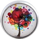 Morella Damen Glas Click-Button Druckknopf Wunderbaum bunt