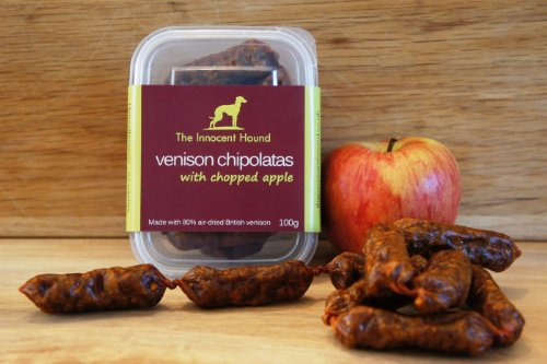 the-innocent-hound-venison-chipolatas-with-chopped-apple-100g-pack-of-6