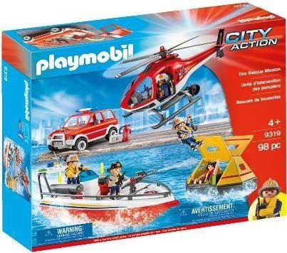 Playmobil - Set Rescate De Incendios 9319