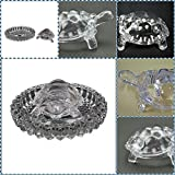 #5: Supermall Imported tortoise house Glass Crystal Big Tortoise in Plate 5x5 inch Fang Shui Vastu Set - Best Gift for Career and Luck best quality